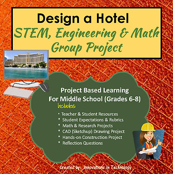 Design and Build a Hotel - STEM, Engineering & Math Group Project