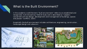 Design in the Built Environment