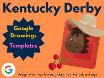 Design the Kentucky Derby with Google Drawings! (Google Classroom, Digital Art)