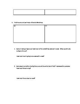 Design the North Pole Activity (Area and Perimeter)
