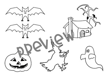 Design your own Halloween Landscape Art + Narrative Writing Activities