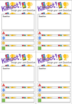 Design your own Kahoot Question Cards