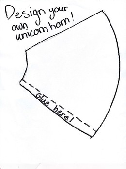Design your own Unicorn Horn Craft