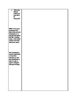 Design your own lab investigations on cornell note template with rubric