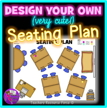 Interactive Classroom Seating Chart Template: with movable clip art pieces