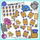 Classroom furniture birdseye view clipart: Seating chart t