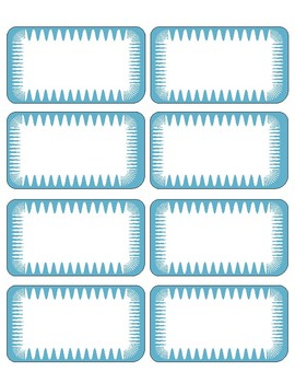 Designed  Editable Labels ( Shades of blue)