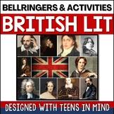British Literature Bell Ringers & Brit Lit Activities - Designed for Teens!