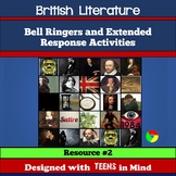 British Literature Bell Ringers & Brit Lit Activities - De
