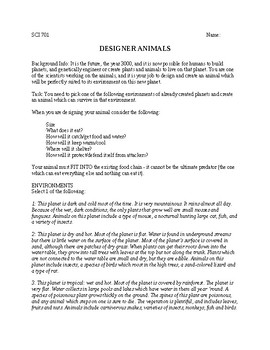Designer Animal Project