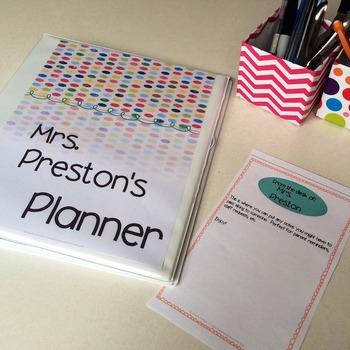 Designer Dots Teacher Lesson Planner