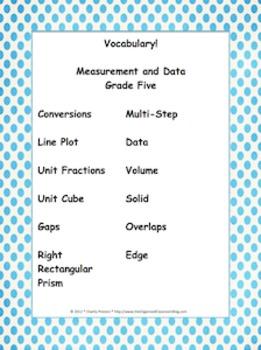 Designer Dots Theme Grade Five CCSS Complete Vocabulary Program