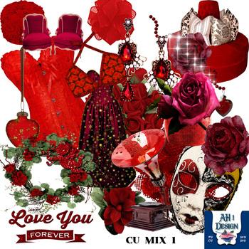 Designer Mix 1 Romance Clip Art Kit