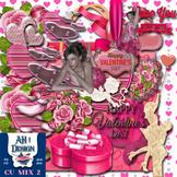 Designer Mix 2 Romance Clip Art Kit