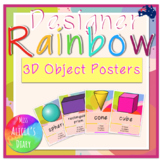 Designer RAINBOW 3D Objects Posters   Display
