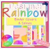 Designer RAINBOW Binder covers and spines   Editable