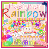 Designer RAINBOW Classroom Decor Bundle   Editable