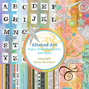 Designer's Resource: Altered Art: Digital Paper, Embellishments and Alphas