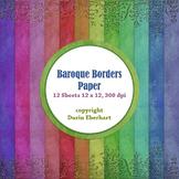 Designer's Resource: Baroque Borders Paper