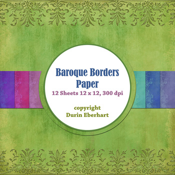 Designer's Resource: Baroque Borders Paper