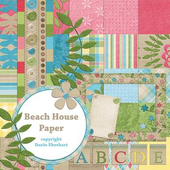 Designer's Resource: Beach House Digital Paper