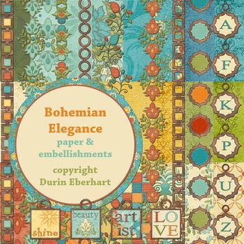 Designer's Resource: Bohemian Elegance Digital Paper
