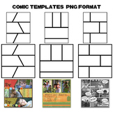 Designer's Resource: Comic Templates PNG Files