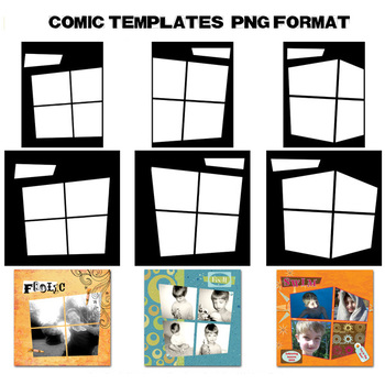 Designer's Resource: Comic Templates PNG Files