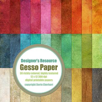 Gesso Paper - 30 - 12 x 12 Sheets