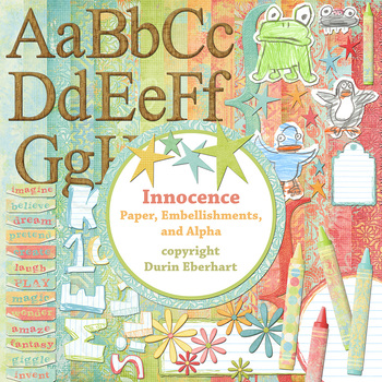Designer's Resource: Innocence Paper, Embellishments and Alphas