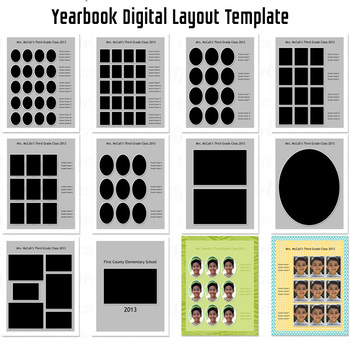 Designer's Resource: Yearbook Digital Layout Templates PSD Files