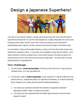 Designing A Japanese Superhero