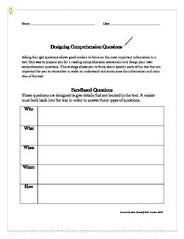 Designing Comprehension Questions