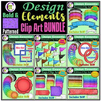 Designing Elements Clip Art BUNDLE | Bold Pattern