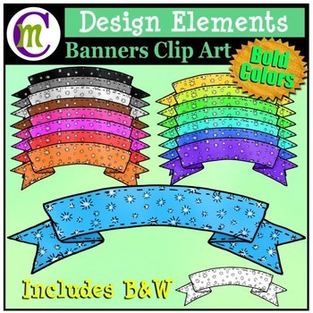 Banners Clipart Bold Patterned