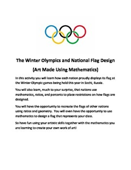 Designing Flags for Olympic Nations:  Using Ratios, Percents & Geometry