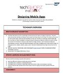 Designing Mobile Apps - TechGirlz Workshop Plan
