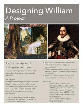 Designing William (Create a Modern Retelling of Shakespeare)
