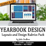 Designing Yearbook Spreads Templates Rubrics Pack for Grad