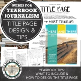 Designing Your Yearbook Title Page: Collecting Information & Creating the Design