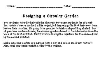 Designing a Circular Garden