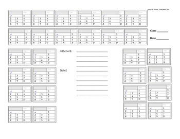 Designing a Multi-Purpose Seating Chart for Record Keeping