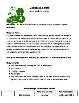 Designing a Park (Area & Perimeter)