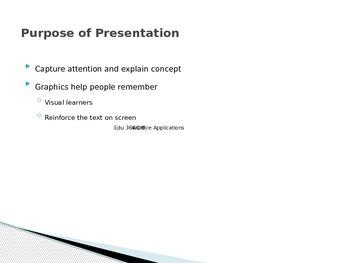 Designing a Presentation