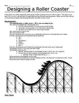 Designing a Roller Coaster using the Law of Conservation o