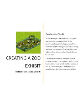 Designing a Zoo exhibit: A problem based learning activity