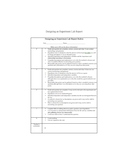 Designing an Experiment Report Rubric