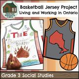 Designing an Ontario Region Basketball Jersey (Grade 3 Social Studies)