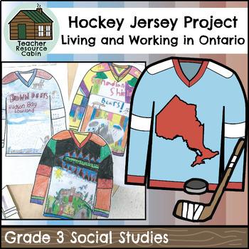 Designing an Ontario Region Hockey Jersey (Grade 3 Social Studies)
