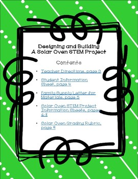 Designing and Building a Solar Oven STEM Project